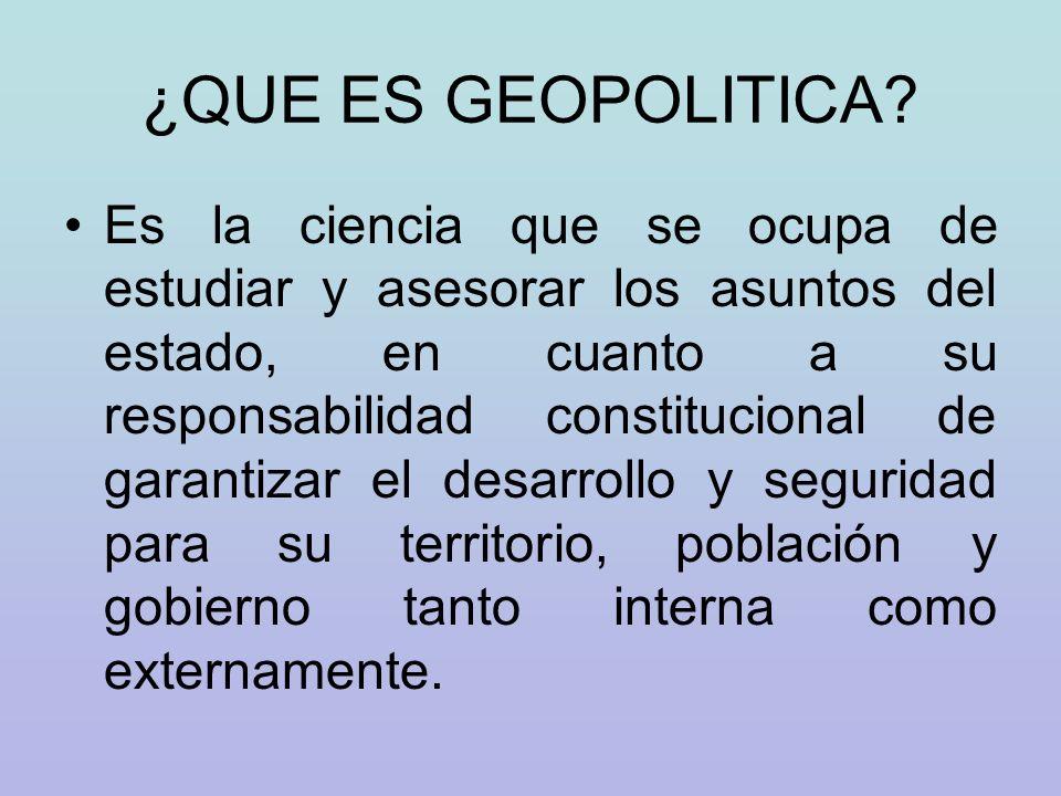 ¿QUE ES GEOPOLITICA