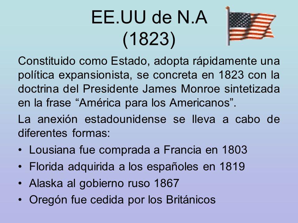 EE.UU de N.A (1823)