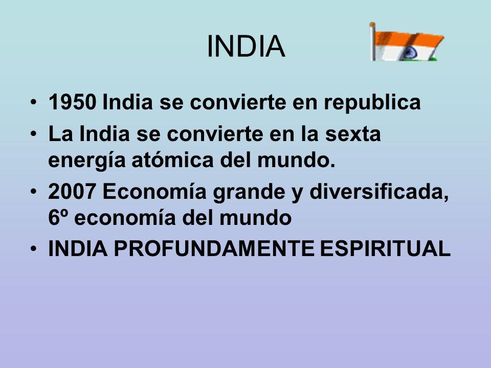 INDIA 1950 India se convierte en republica