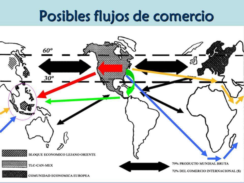 Posibles flujos de comercio