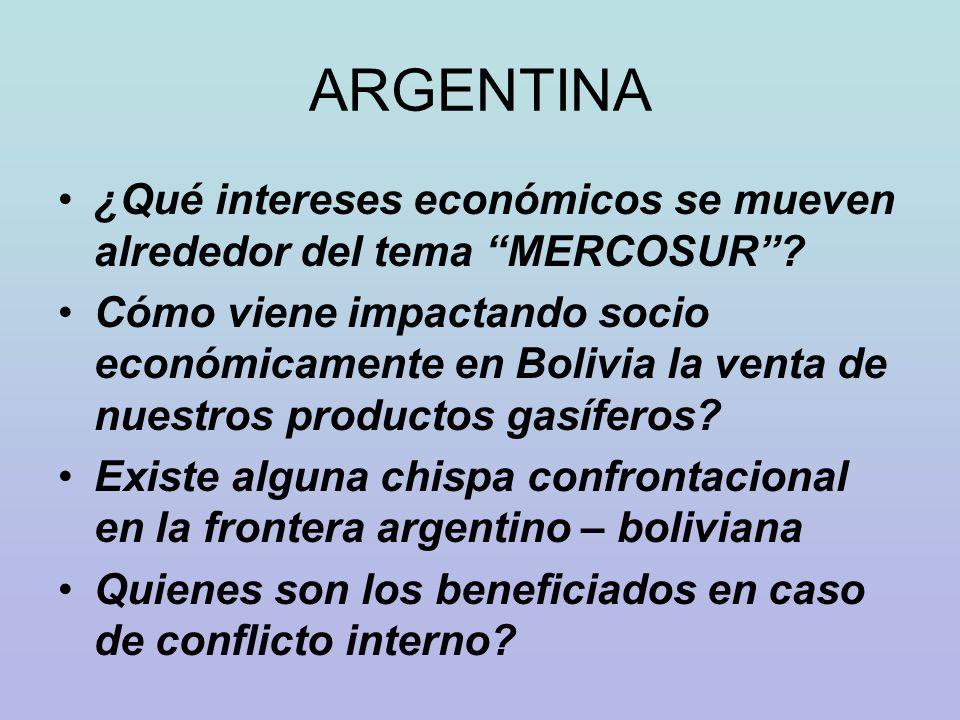 ARGENTINA ¿Qué intereses económicos se mueven alrededor del tema MERCOSUR
