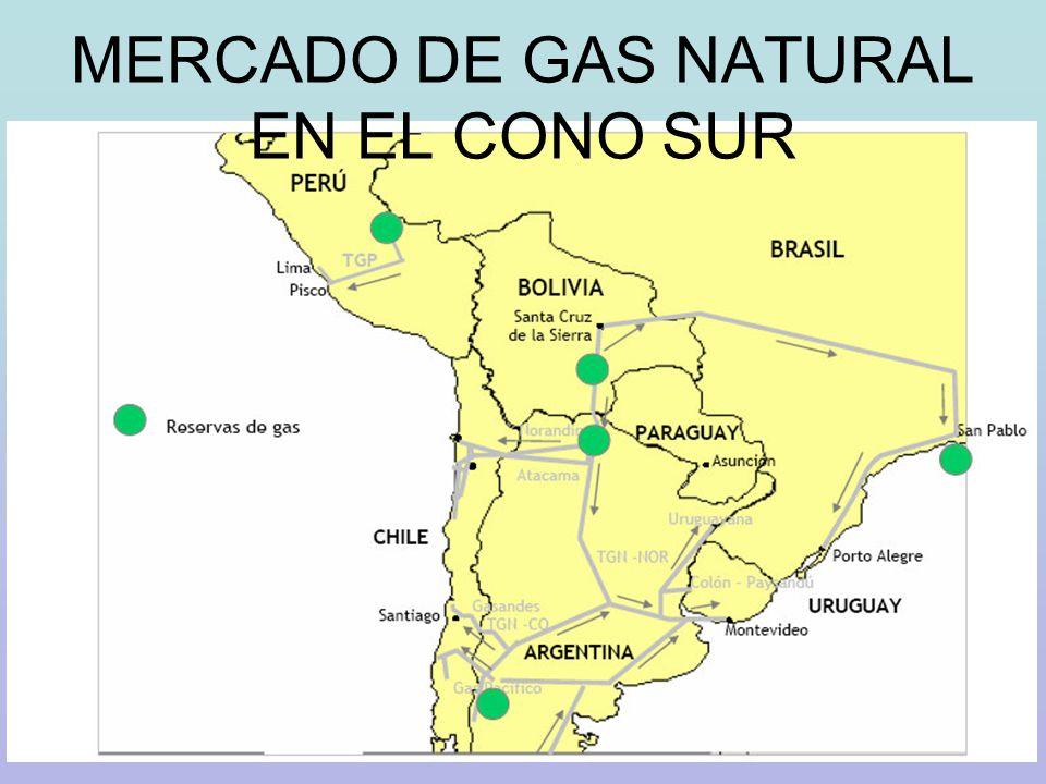 MERCADO DE GAS NATURAL EN EL CONO SUR