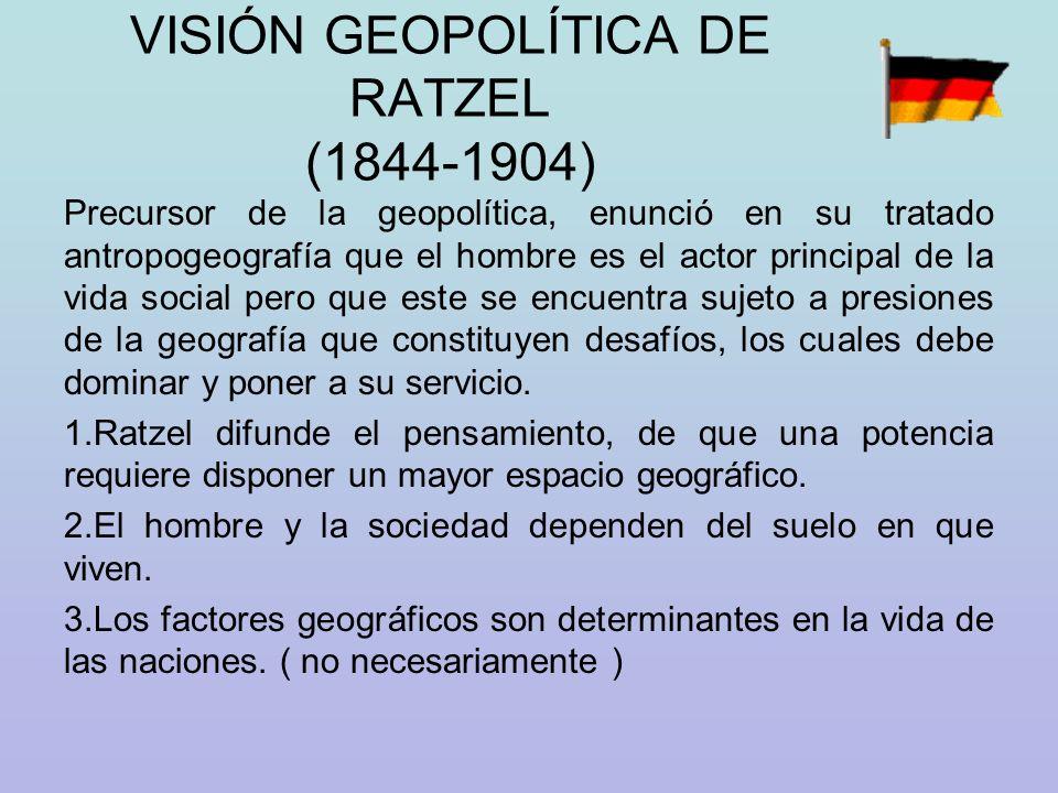 VISIÓN GEOPOLÍTICA DE RATZEL (1844-1904)