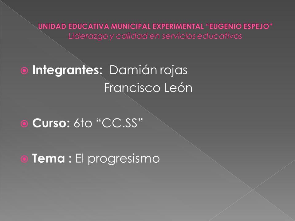 Integrantes: Damián rojas Francisco León Curso: 6to CC.SS