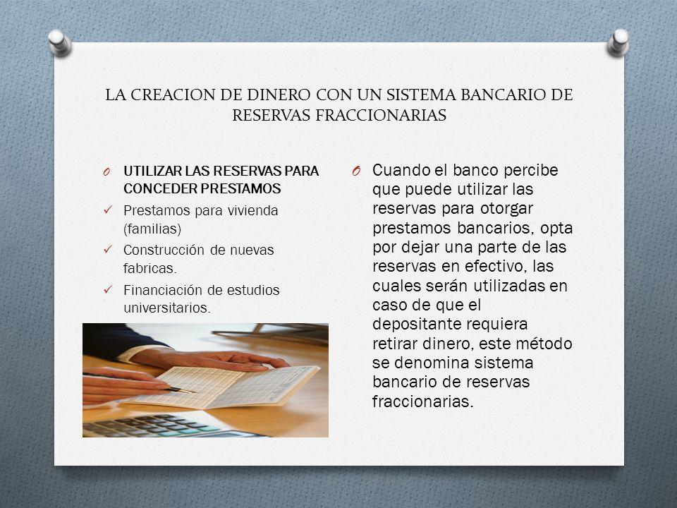 LA CREACION DE DINERO CON UN SISTEMA BANCARIO DE RESERVAS FRACCIONARIAS