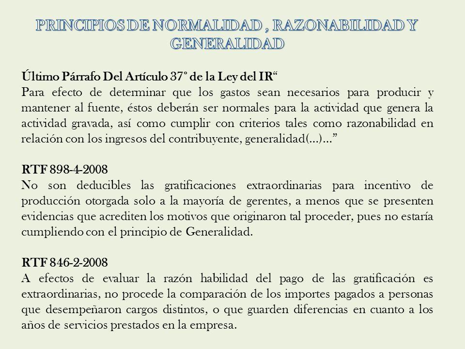 PRINCIPIOS DE NORMALIDAD , RAZONABILIDAD Y GENERALIDAD