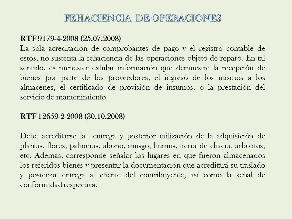 FEHACIENCIA DE OPERACIONES