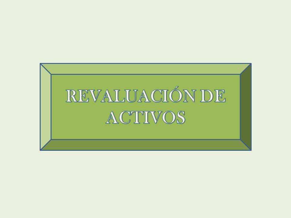 REVALUACIÓN DE ACTIVOS