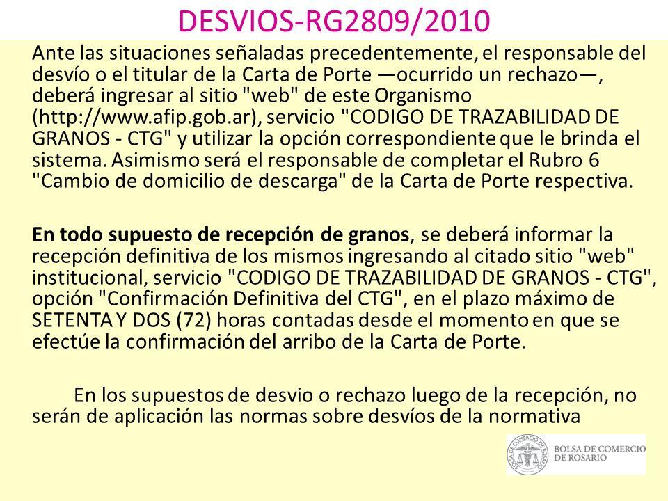 DESVIOS-RG2809/2010