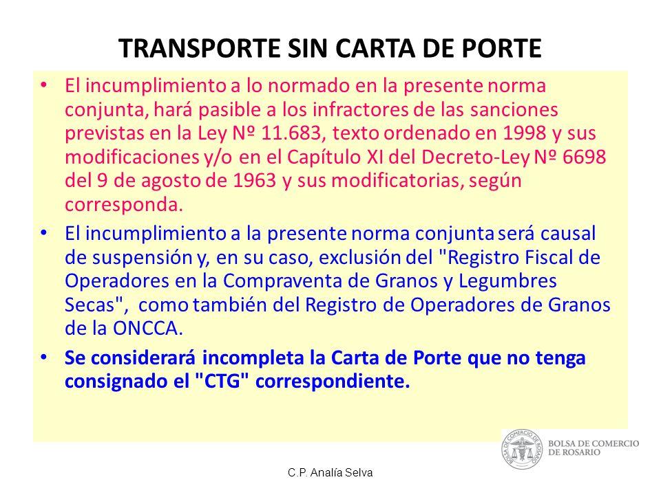 TRANSPORTE SIN CARTA DE PORTE