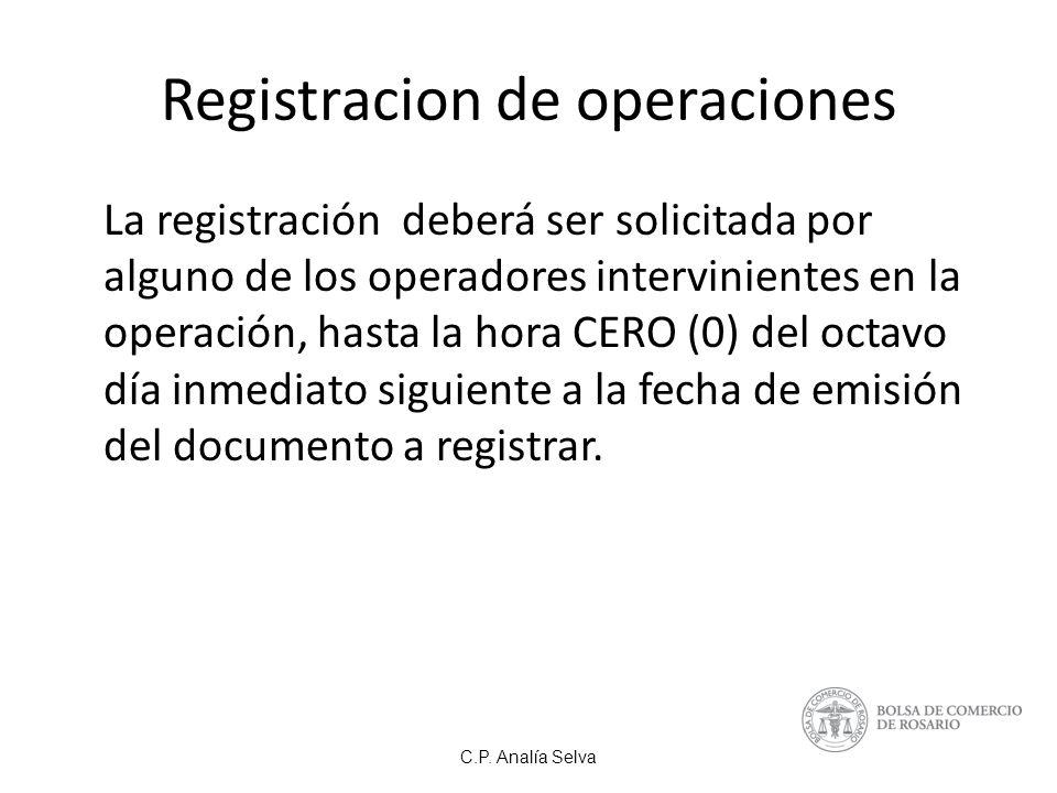 Registracion de operaciones