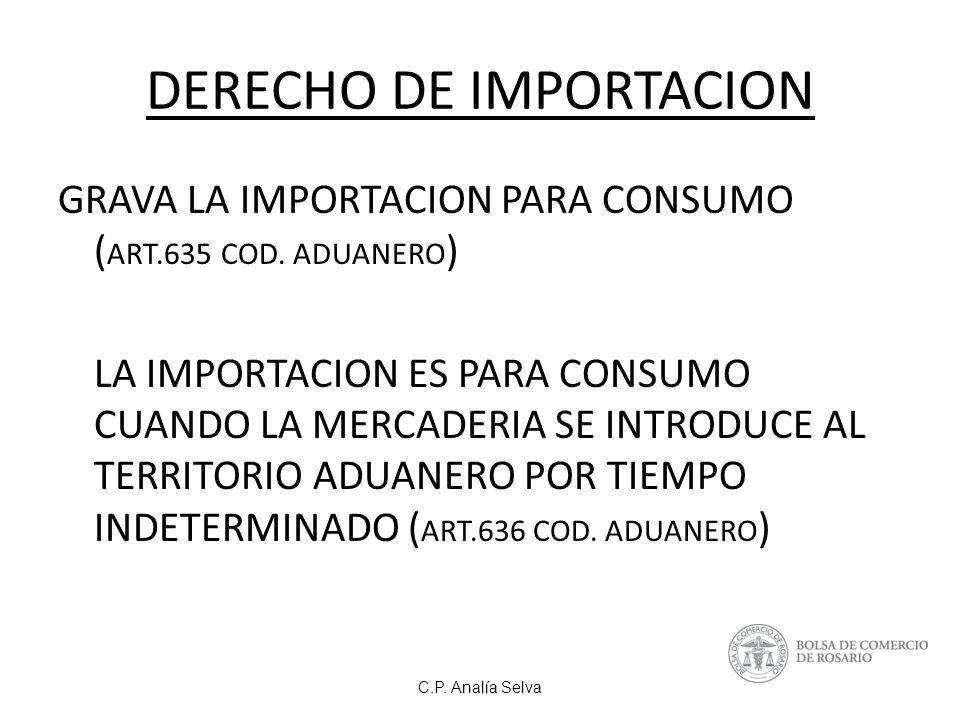 DERECHO DE IMPORTACION