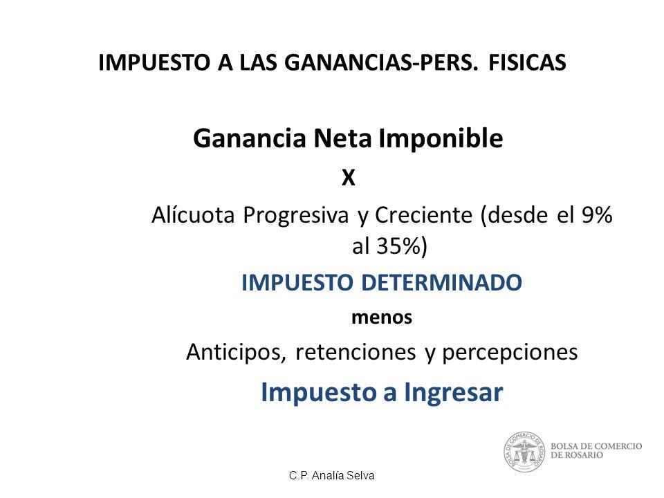 IMPUESTO A LAS GANANCIAS-PERS. FISICAS