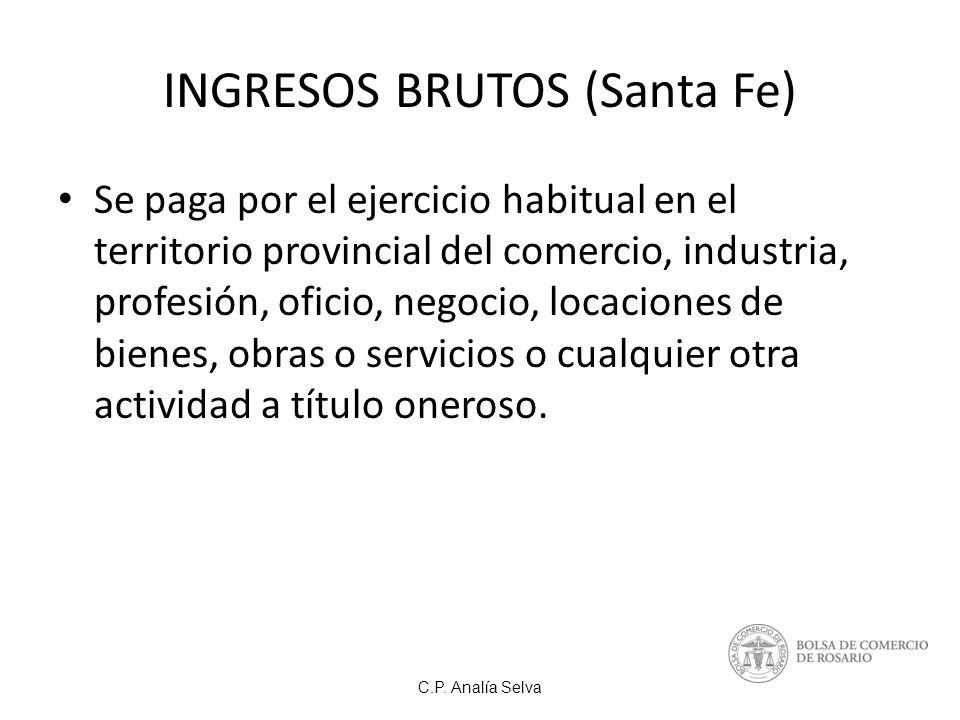 INGRESOS BRUTOS (Santa Fe)