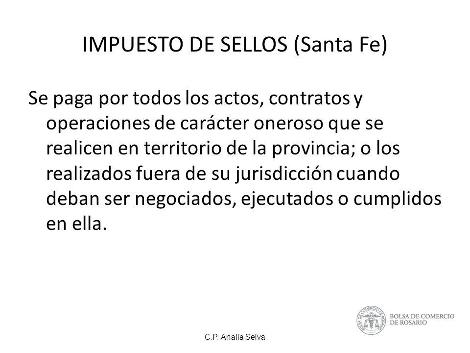 IMPUESTO DE SELLOS (Santa Fe)