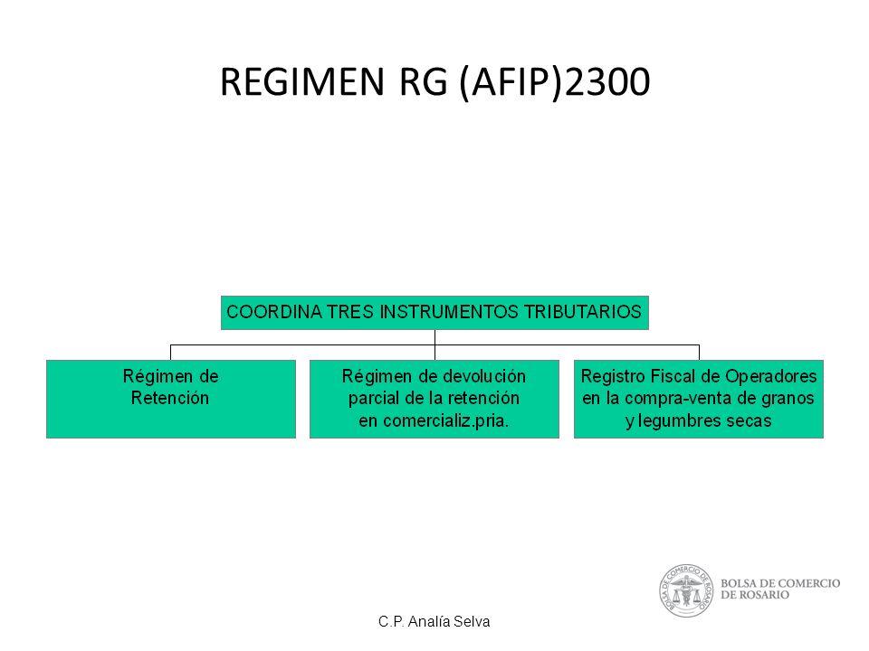 REGIMEN RG (AFIP)2300 C.P. Analía Selva