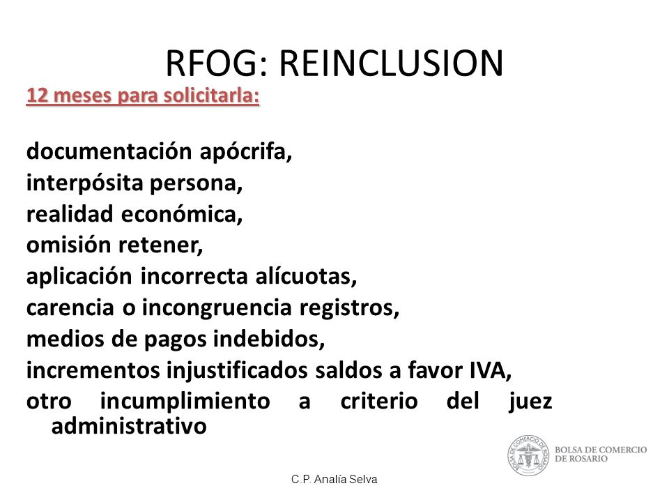 RFOG: REINCLUSION documentación apócrifa, interpósita persona,