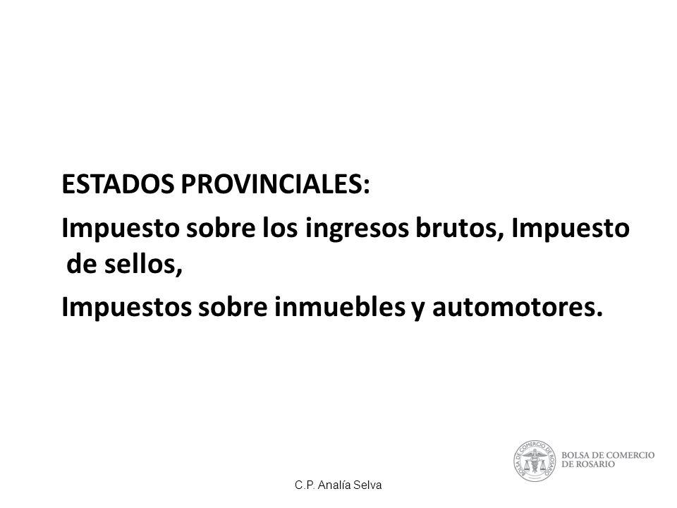 ESTADOS PROVINCIALES: