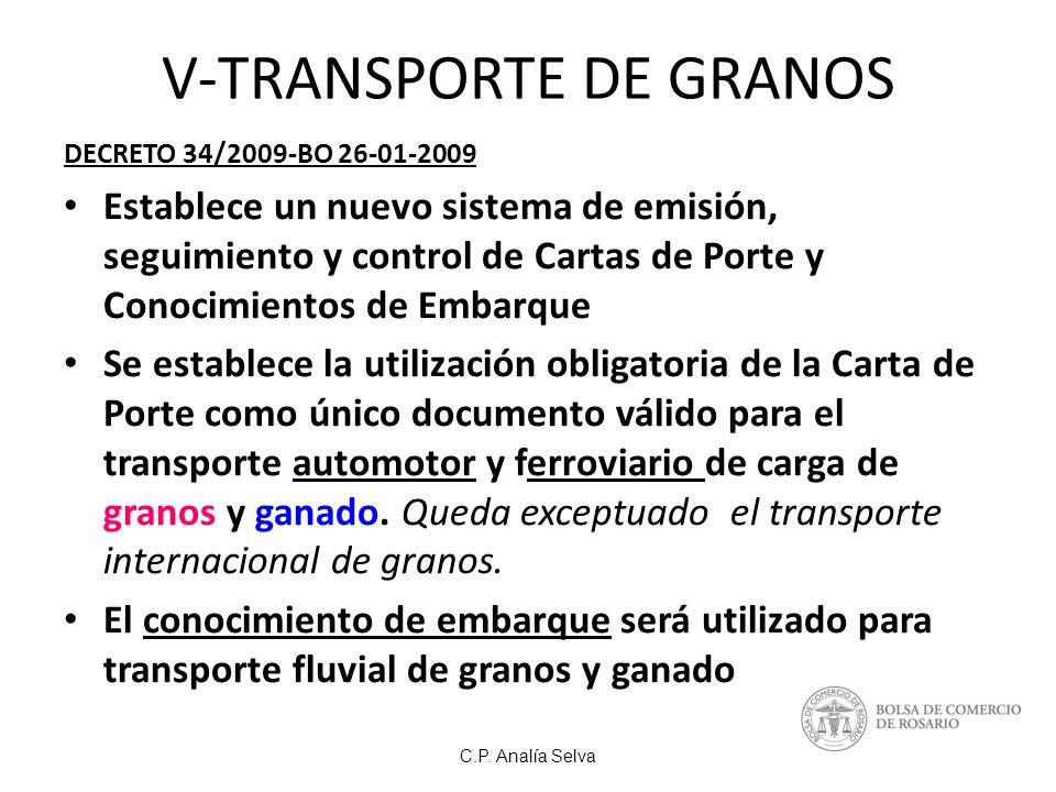 V-TRANSPORTE DE GRANOS