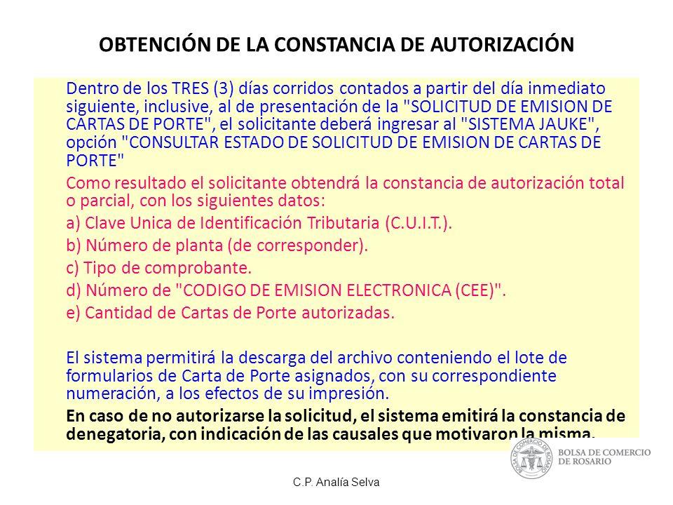 OBTENCIÓN DE LA CONSTANCIA DE AUTORIZACIÓN