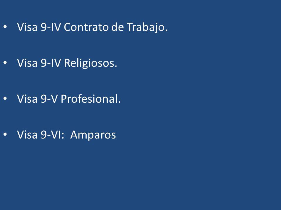 Visa 9-IV Contrato de Trabajo.