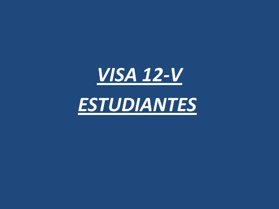 VISA 12-V ESTUDIANTES