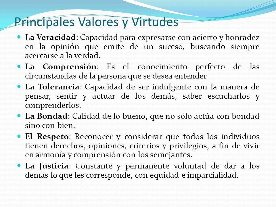 Principales Valores y Virtudes