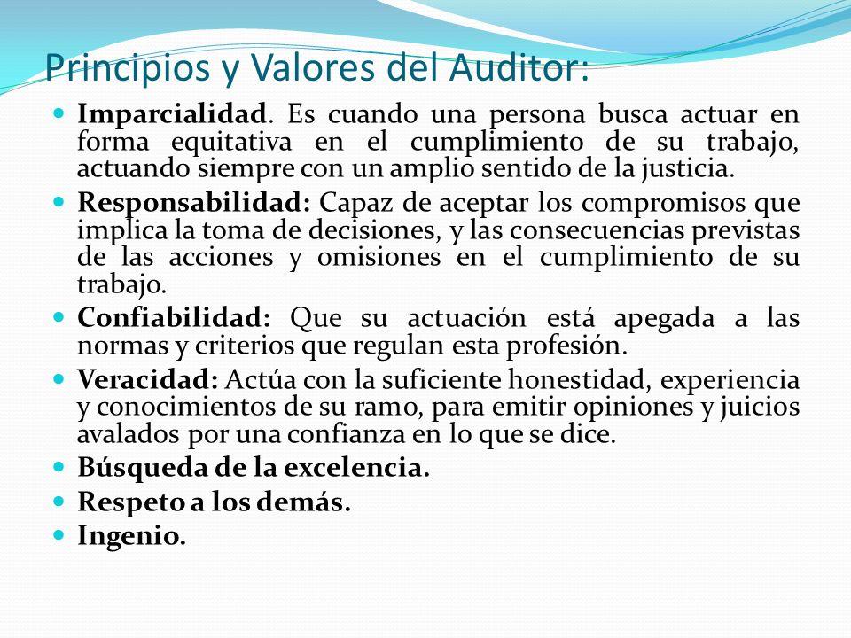 Principios y Valores del Auditor: