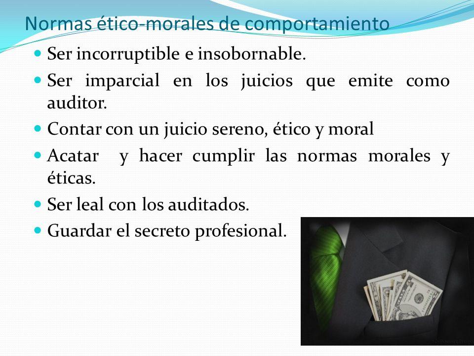 Normas ético-morales de comportamiento