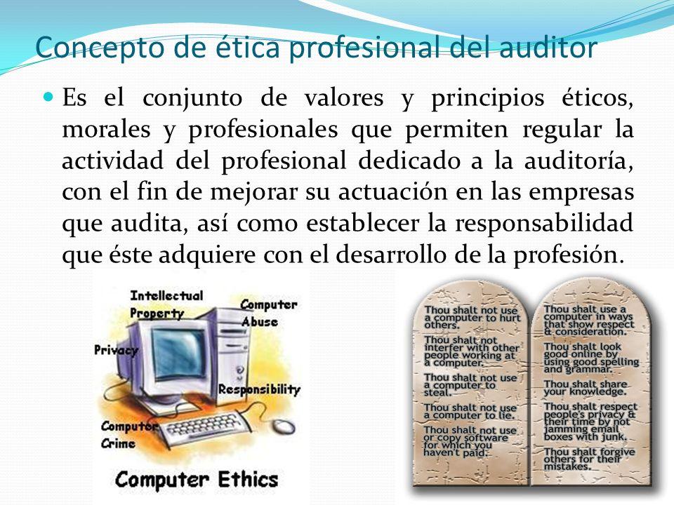 Concepto de ética profesional del auditor