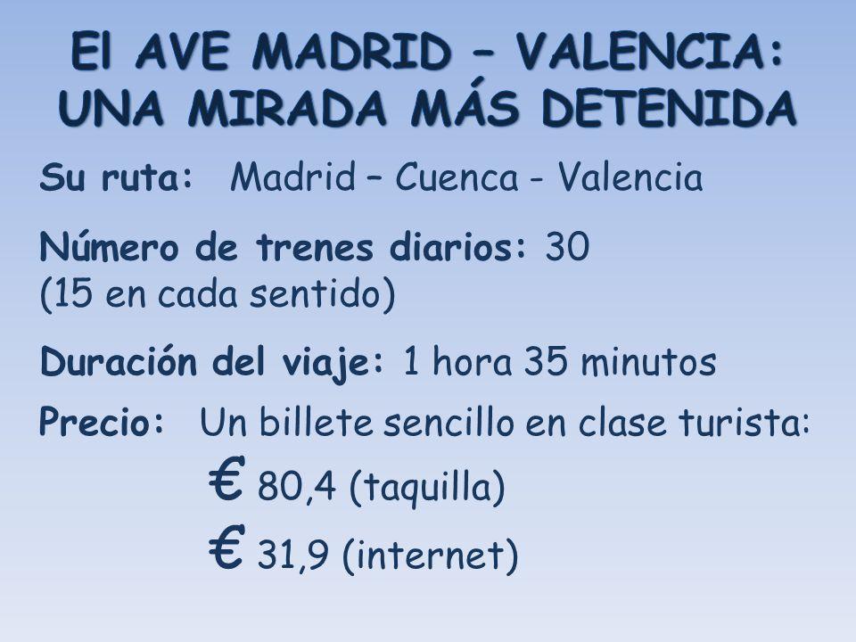El AVE MADRID – VALENCIA: UNA MIRADA MÁS DETENIDA