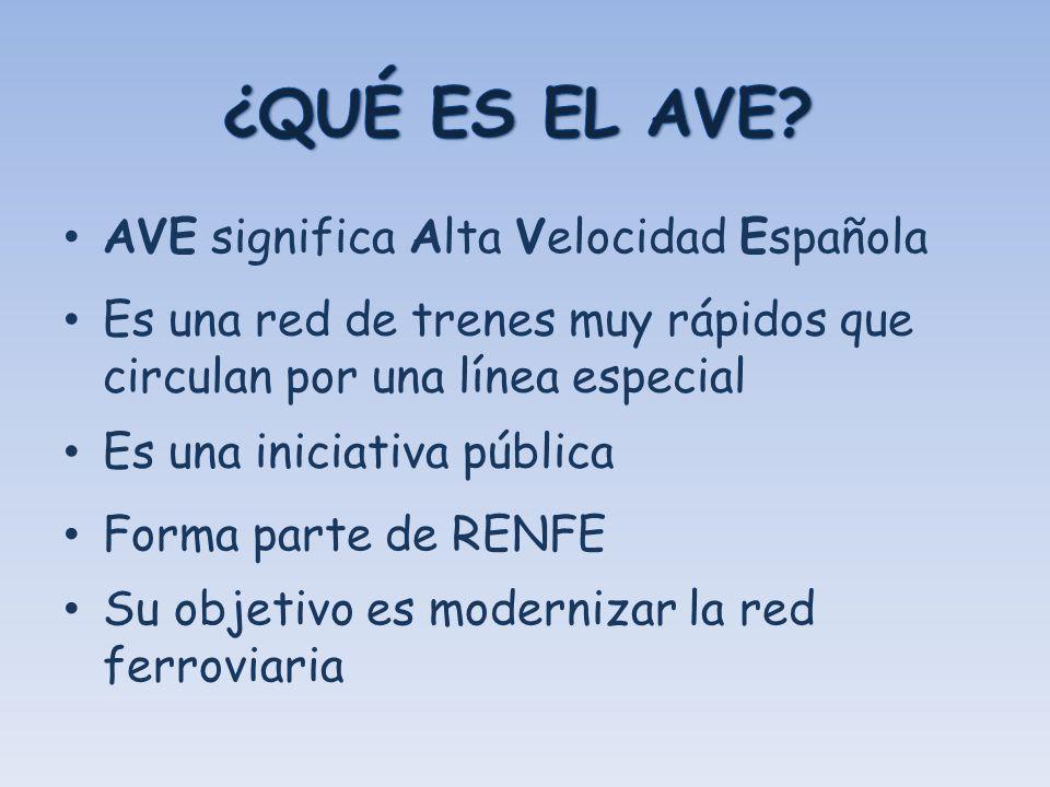 ¿QUÉ ES EL AVE AVE significa Alta Velocidad Española