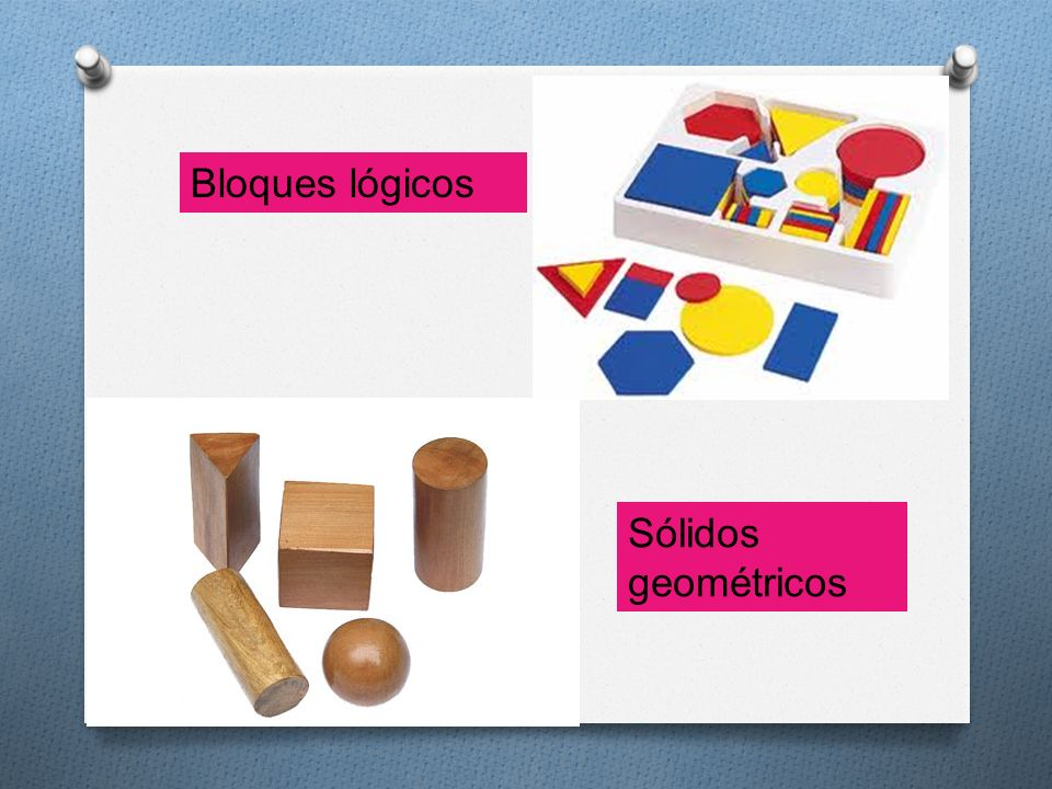 Bloques lógicos Sólidos geométricos