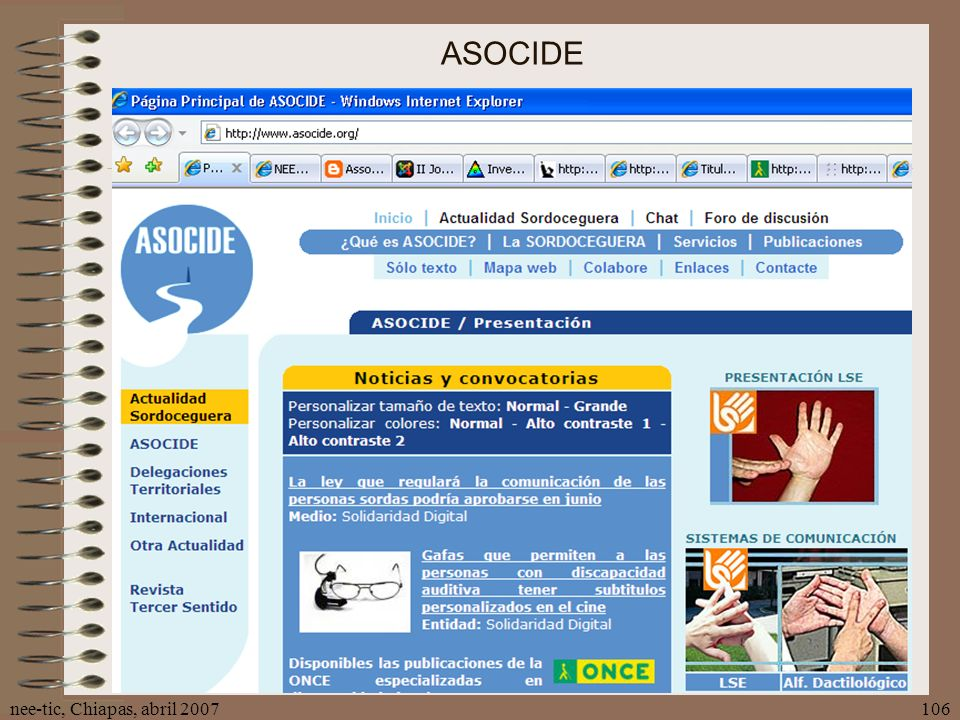 ASOCIDE nee-tic, Chiapas, abril 2007