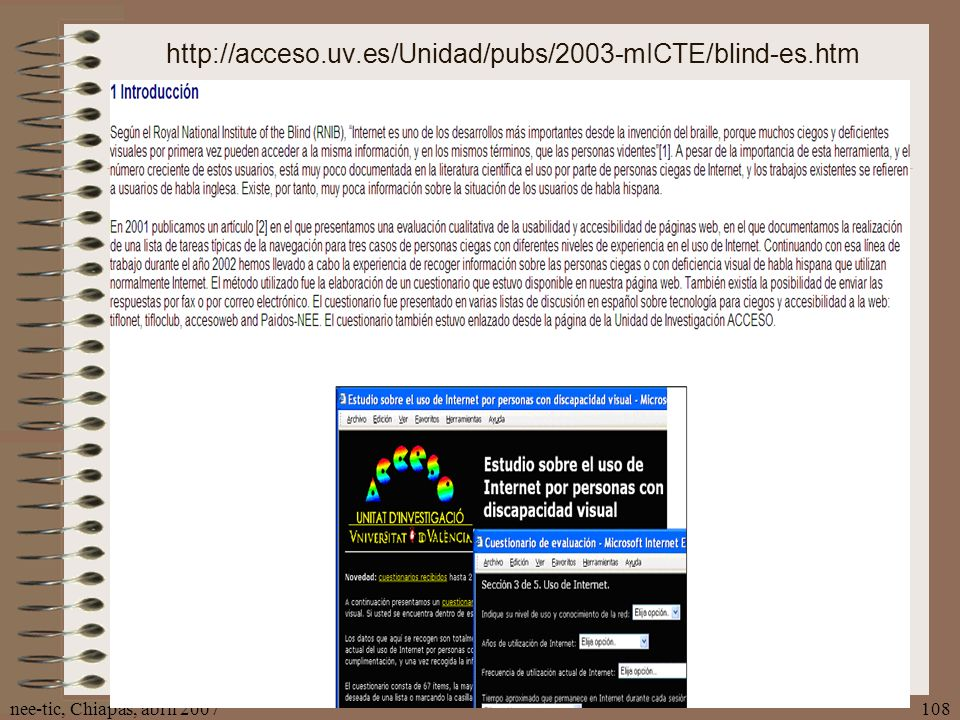 http://acceso.uv.es/Unidad/pubs/2003-mICTE/blind-es.htm nee-tic, Chiapas, abril 2007