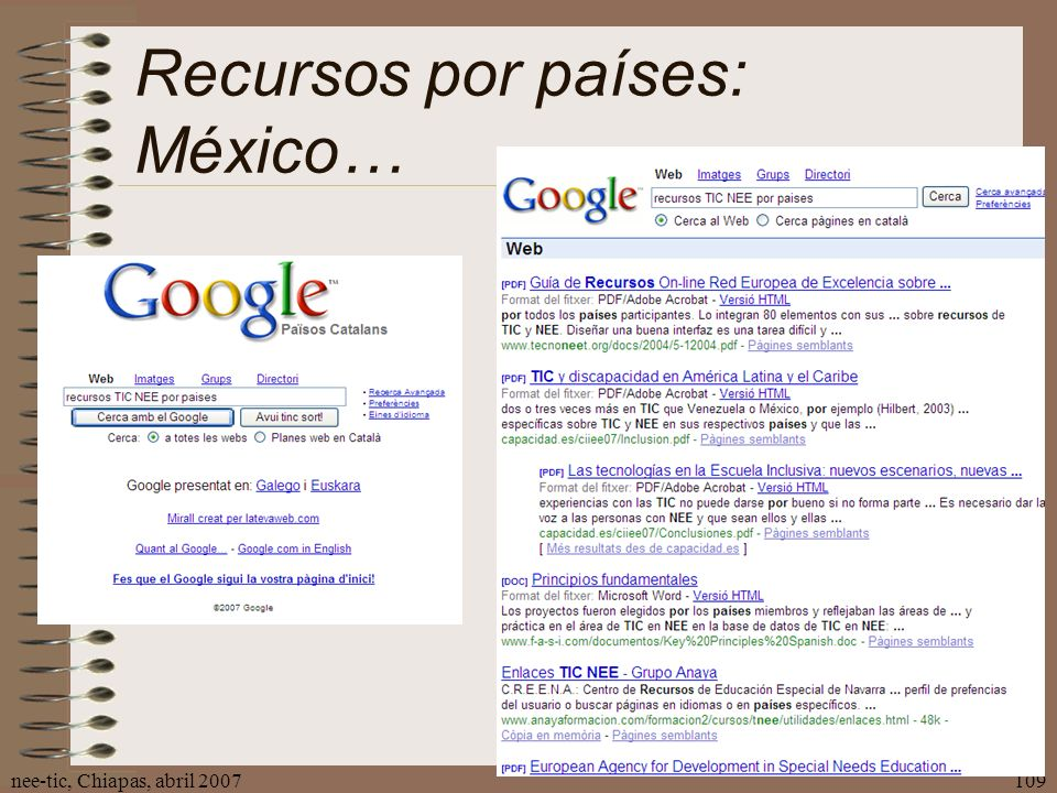 Recursos por países: México…