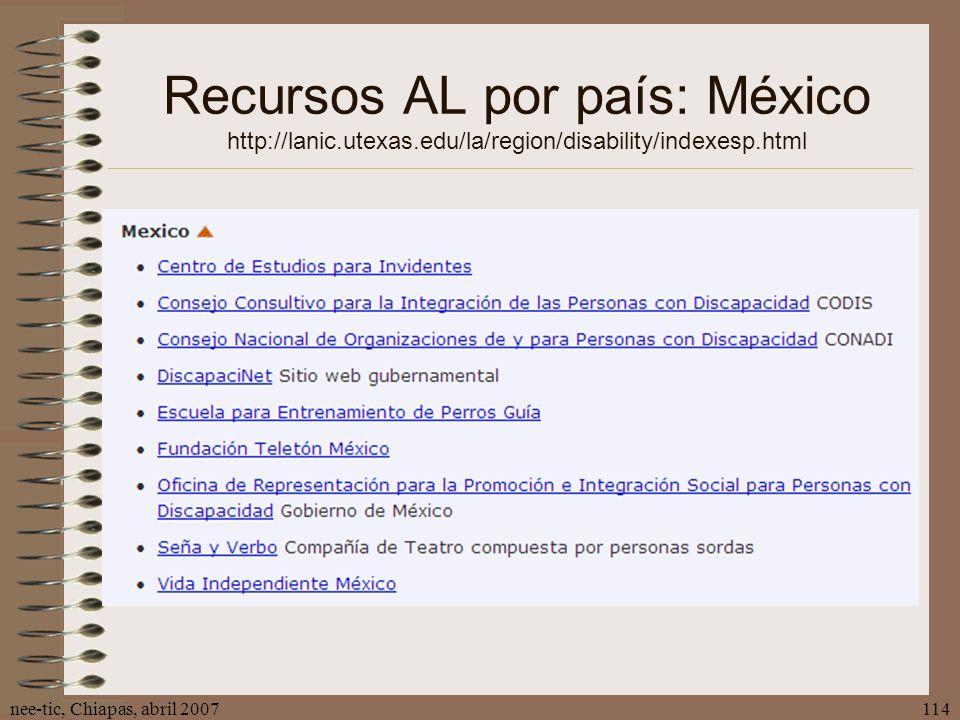 Recursos AL por país: México http://lanic. utexas