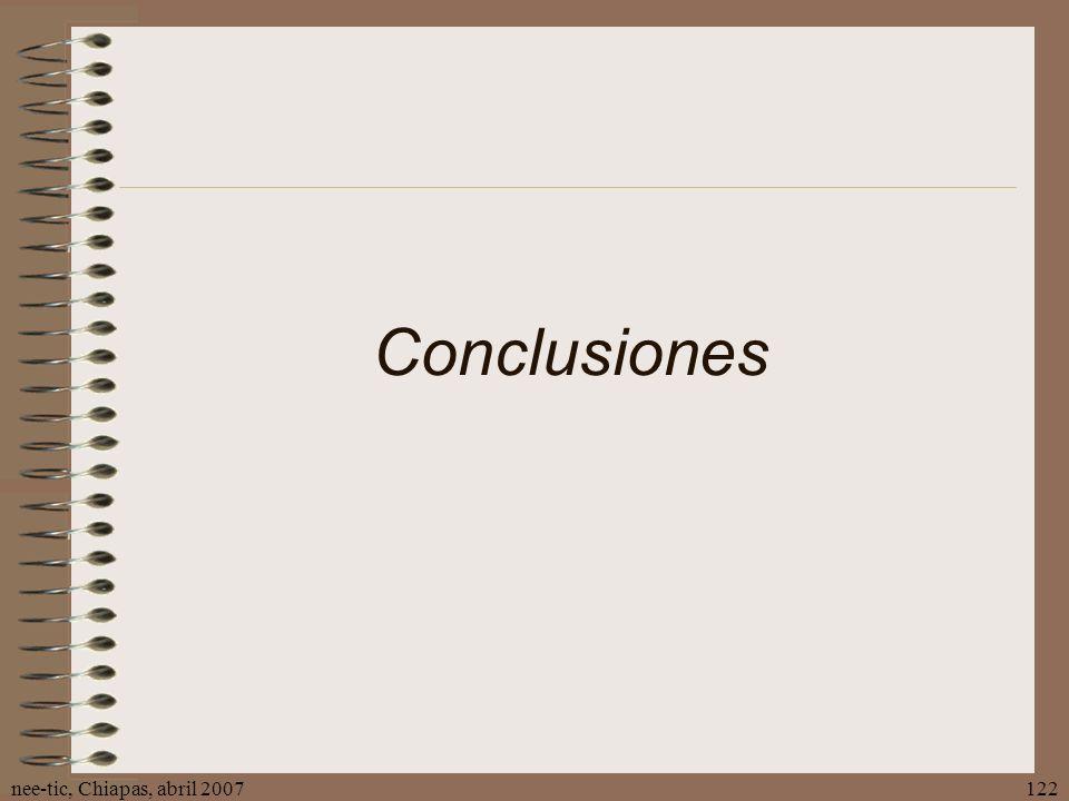 Conclusiones nee-tic, Chiapas, abril 2007