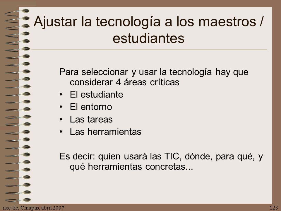 Ajustar la tecnología a los maestros / estudiantes