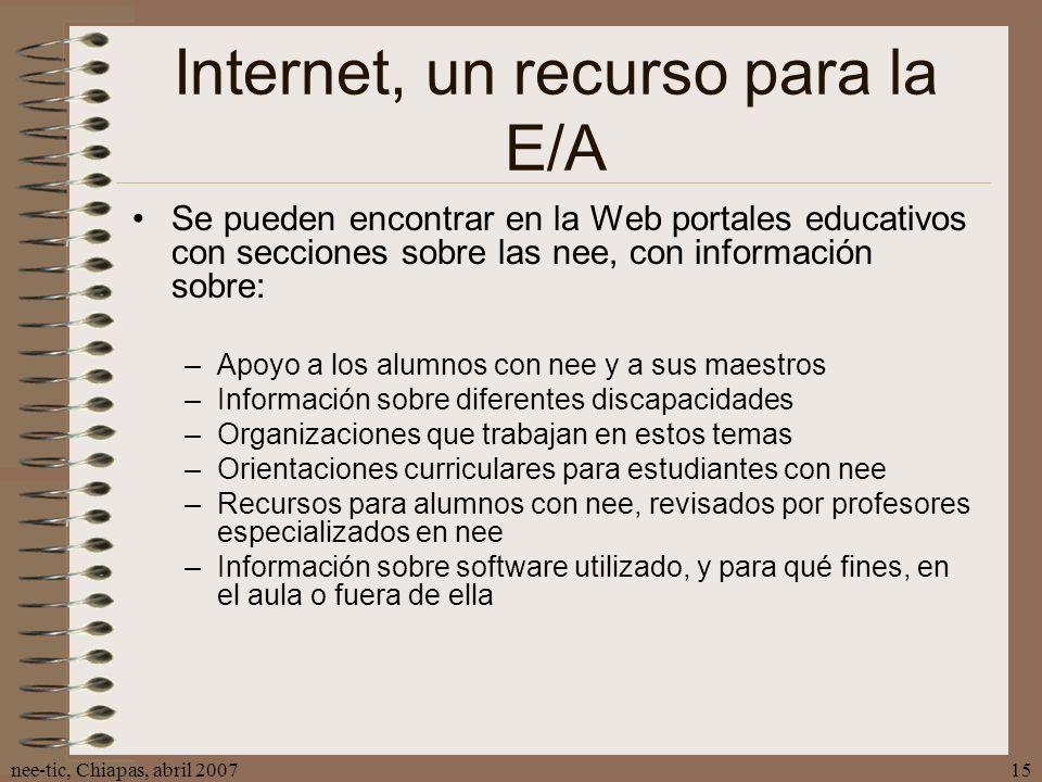 Internet, un recurso para la E/A