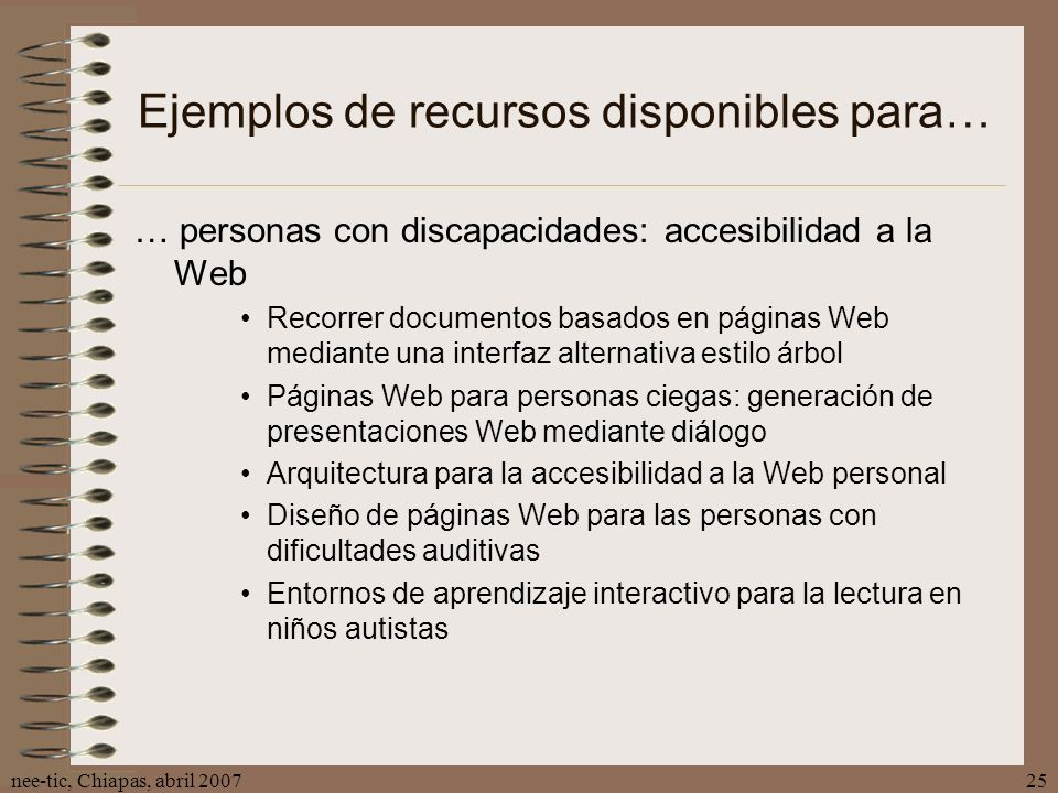 Ejemplos de recursos disponibles para…