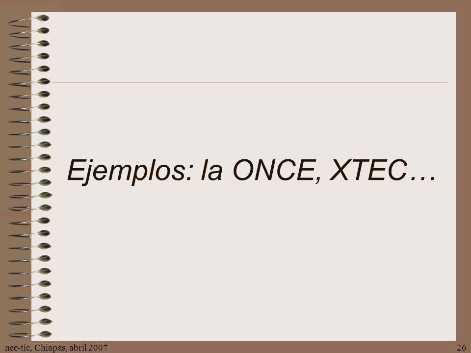Ejemplos: la ONCE, XTEC…