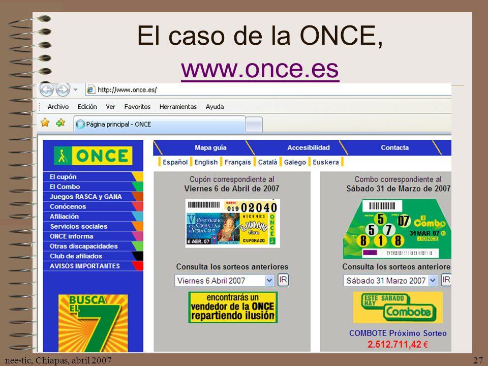 El caso de la ONCE, www.once.es
