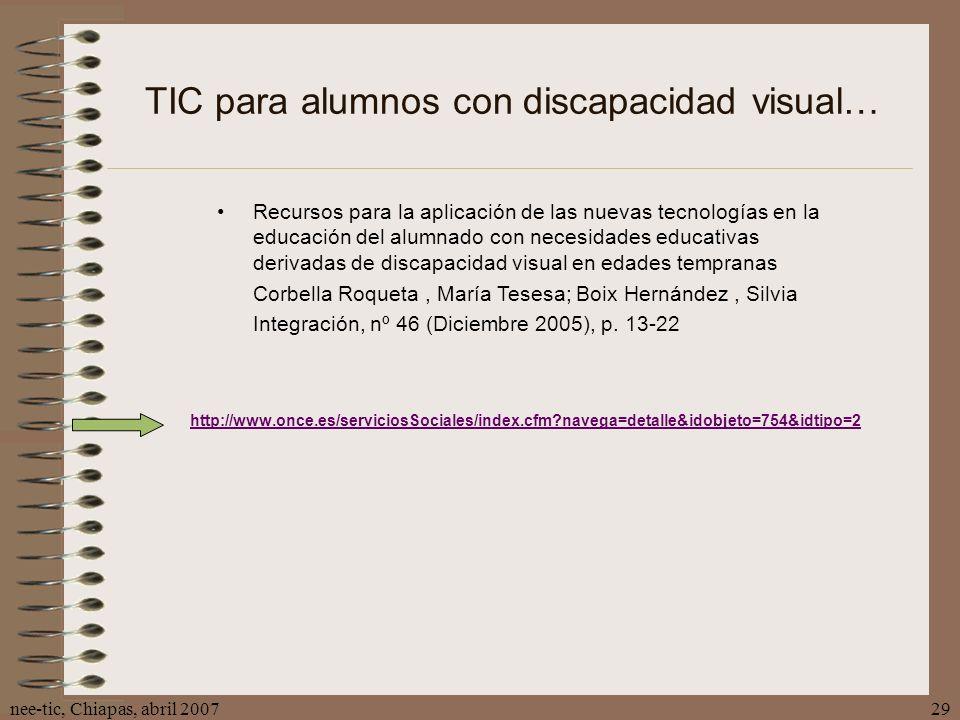 TIC para alumnos con discapacidad visual…
