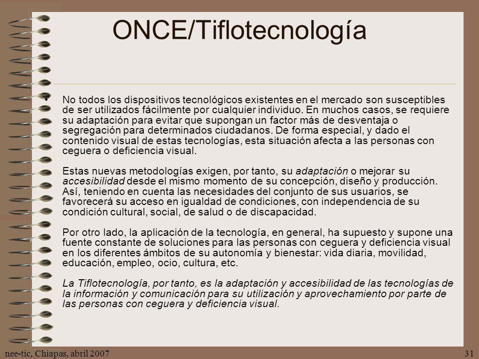 ONCE/Tiflotecnología