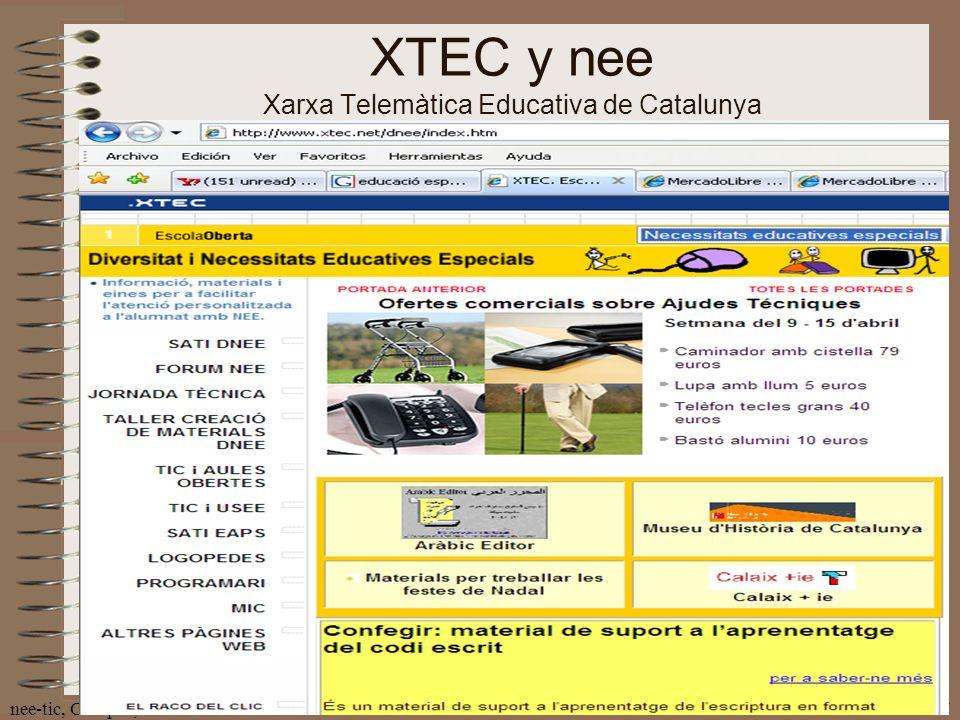 XTEC y nee Xarxa Telemàtica Educativa de Catalunya