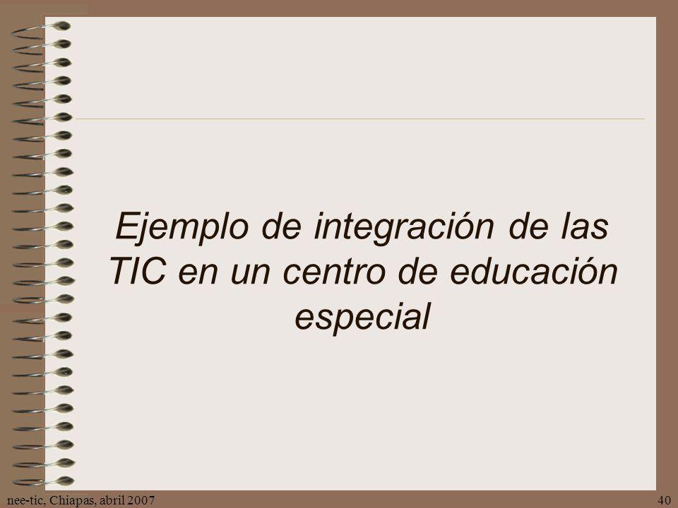 Ejemplo de integración de las TIC en un centro de educación especial