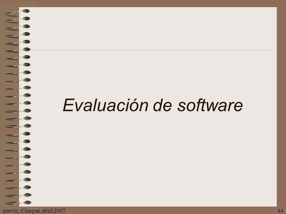 Evaluación de software