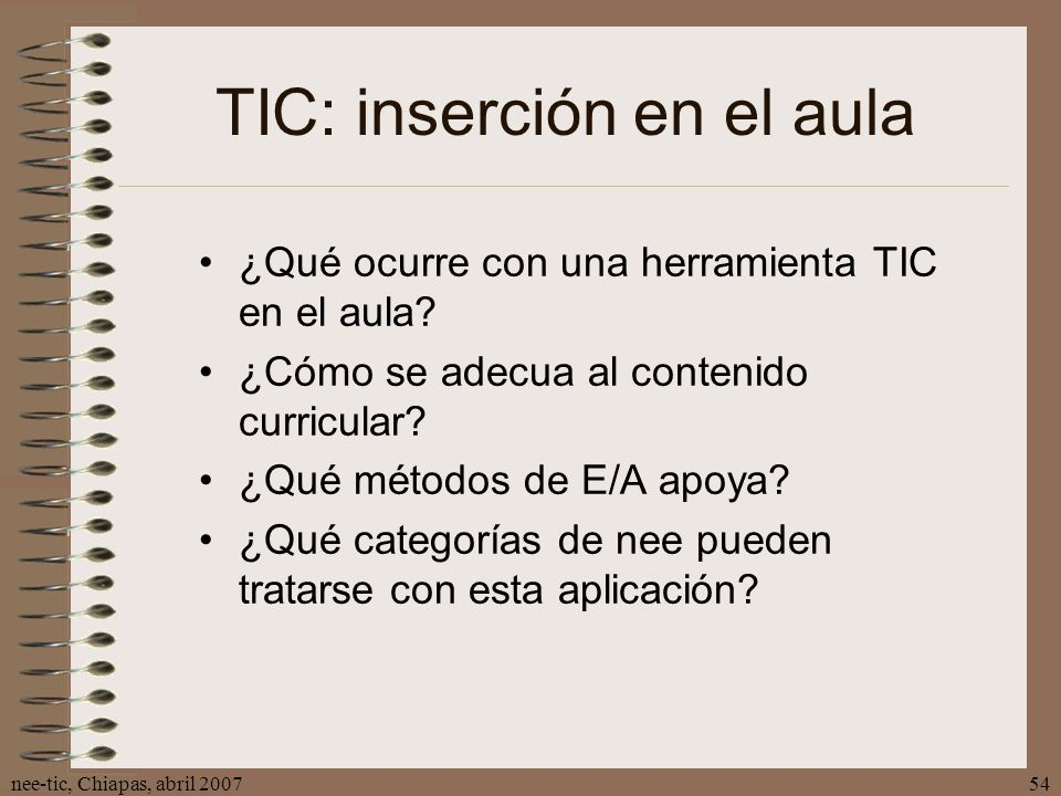 TIC: inserción en el aula