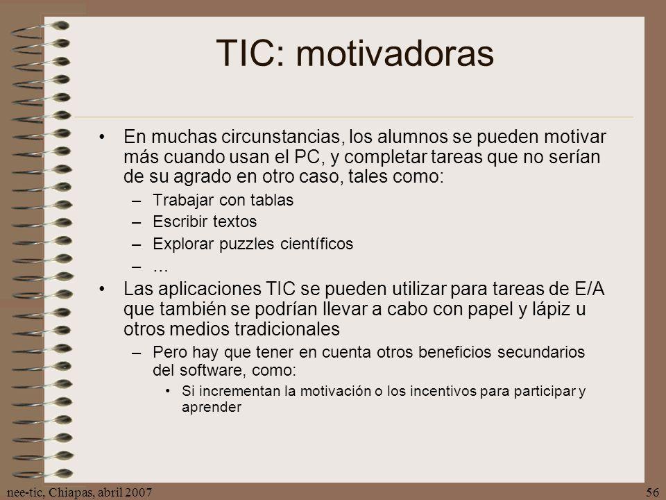 TIC: motivadoras